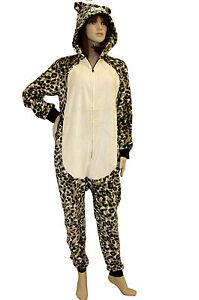comprare popolare 2da8c ce4f8 Dettagli su SEXY Pigiama TIGRE peluche Tuta Tutina intera Donna Unisex  costume MACOLATO
