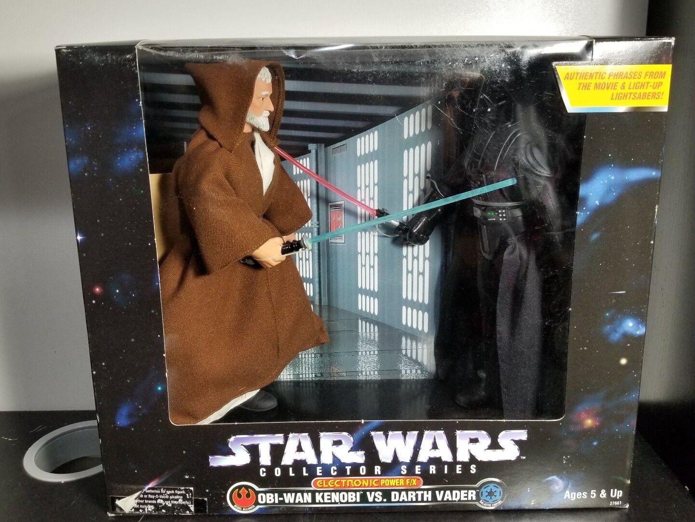 Star - wars - elektronische obi - wan kenobi vs. darth vader actionfigur versiegelt