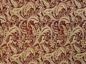 57-034-Wide-Paisley-Drapery-Upholstery-Chenille-Fabric-Crimson-Red-Sold-by-The-Yard