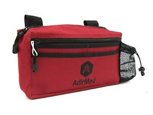 AdirMed-Red-Wheelchair-Walker-Storage-Pouch-Rollator-Bag-Mobility-Accessory