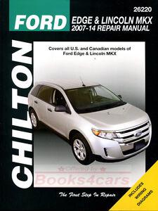 ford edge lincoln mkx shop manual service repair book chilton haynes rh ebay com 2011 ford edge workshop manual 2007 Ford Edge Sel