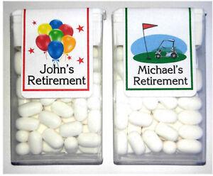 14 retirement party favors tic tac labels ebay