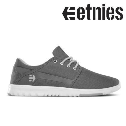 HEATHER ETNIES SCOUT SKATE SHOES TRAINERS CHARCOAL