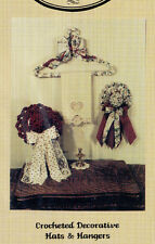 """Maddrill&Wright DryGoodsStore Pattern MW104 """"Crocheted Decorative Hats & Hangers"""