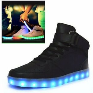 Details About Lovers Led Night Light Couples Men Women Light Up Trainer Lace Up Sneakers Shoes