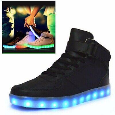 UK Women Men LED Light Lace Up Luminous Night Shoes Sportswear Sneaker Casual !
