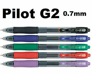 Image is loading Pilot-G2-0-5-mm-Retractable-roller-gel-
