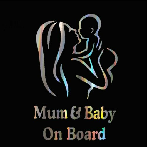 Colorful Laser Kids Baby On Board Car 3D Sticker Decals Vinyl Stickers Auto
