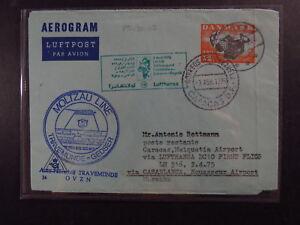 Cvr-Denmark-Moltzau-Line-Travemunde-Gedser-ferry-Casablanca-Lufthansa-Aerogram