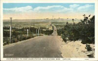 Provincetown Cape Cod MA Road to Coast Guard Station c1920 Postcard