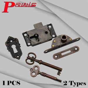 Quality-Bronze-Drawer-Lock-Kit-Key-Cabinet-Cupboard-Door-Office-Desk-Catch