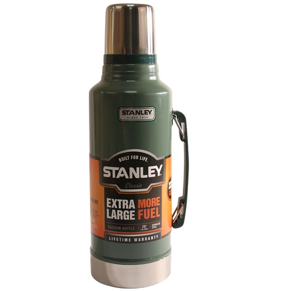 1.9L STANLEY DRINKS FLASK STAINLESS STEEL VACUUM BOTTLE 1.9 LITRE THERMOS