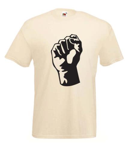 Banksy Fist Revolution Graffiti Inspired Graphic Design Quality t-shirt tee m...