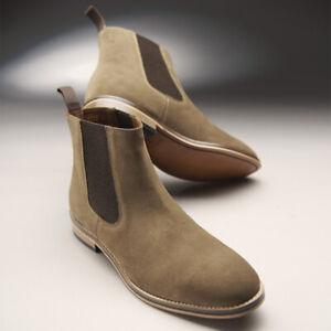 3f04428bec3 Details about Samuel Windsor Mens Chelsea Boots Prestige Sand Suede Slip On  UK Size 5 - 14 NEW