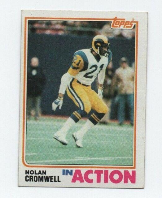 1982 Topps Nolan Cromwell  372 Football Card  fd863af3b