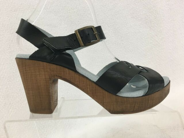 Womens 8 Open Sandal Heel Eric Philly Toe 7 5 Black Michael Platform Leather Us nPk8w0O