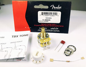 genuine fender tbx tone control 250k 1 meg stacked pot potentiometer rh ebay com