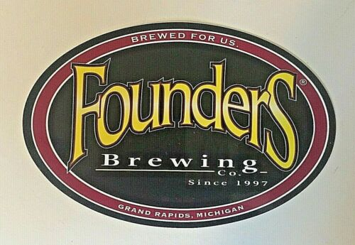 Craft Beer Logo Sticker Founders Brewing Co Grand Rapids Michigan FREE ship