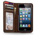 iPhone se 5s 5 Tasche Twelve South BookBook Echtleder hülle Case braun