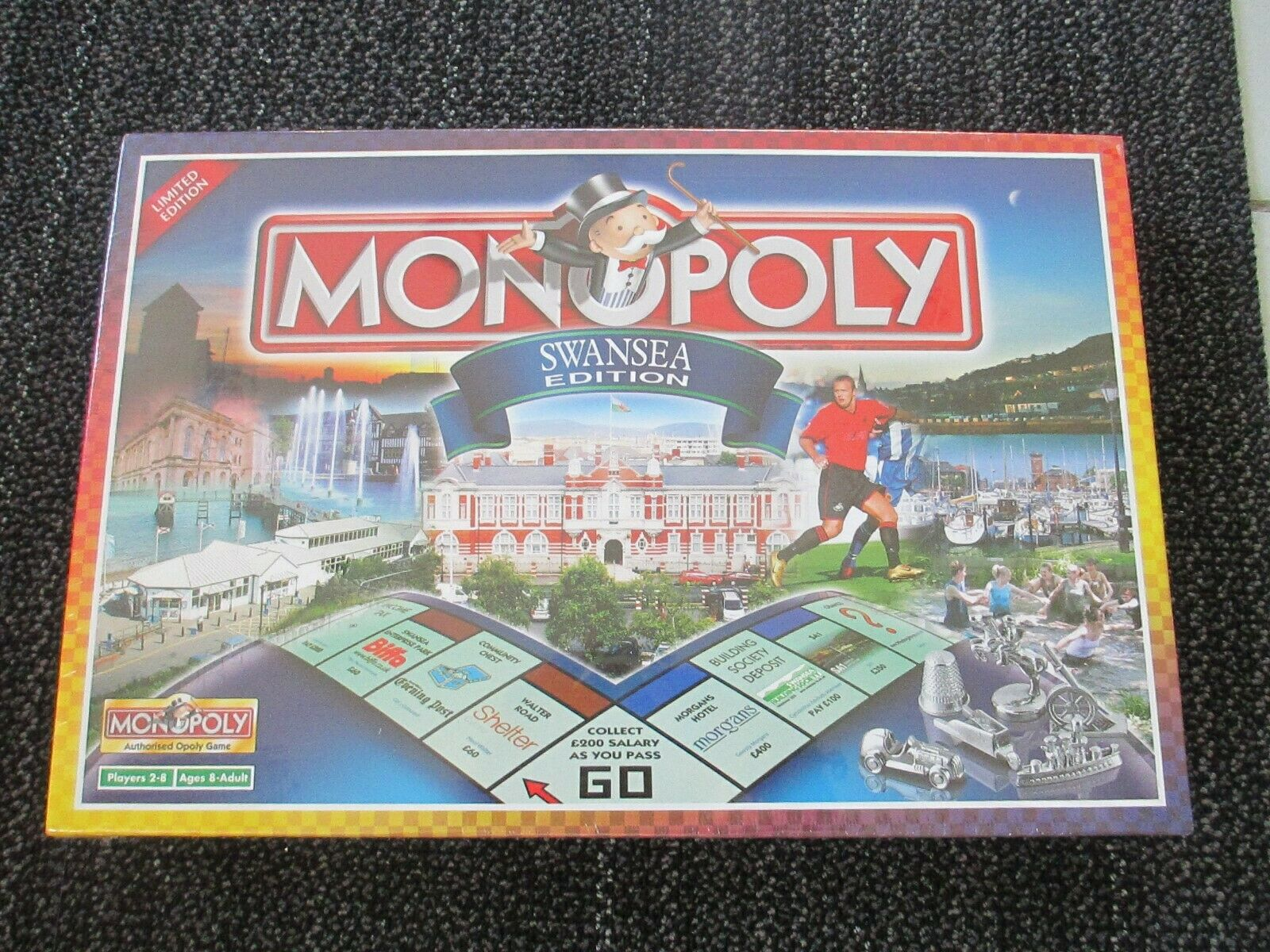 RARE SEALED NEW MINT MONOPOLY SWANSEA LIMITED EDITION