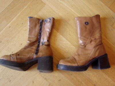 * Coole Stiefel Retro Look Fasching Verkleidung Gr. 32 - Girlies*