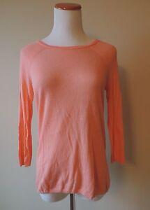 Women-039-s-Cynthia-Rowley-Salmon-Coral-Linen-Blend-Sweater-Size-Small
