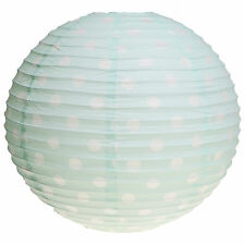 Polka Dot Green Round Lampshade Floral Shabby Chic Lighting Home Paper Vintage
