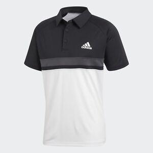 3342401c6 adidas Color Block Club Polo Tee tshirt NEW men CE1420 black white ...