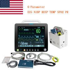 Portable Icu Vital Signs Patient Monitor Pulse Rate Cardiac Machine Spo2 Pr 12