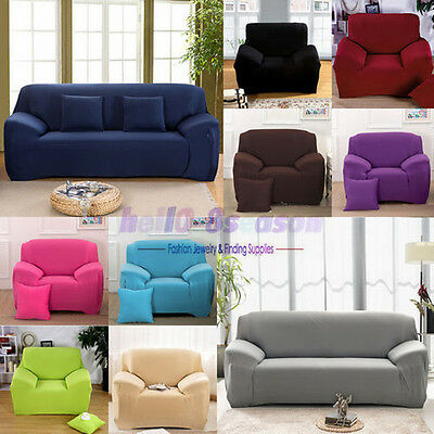 UK Universal  Stretch Elastic Fabric Sofa Cover Sectional//Corner Couch Covers UK