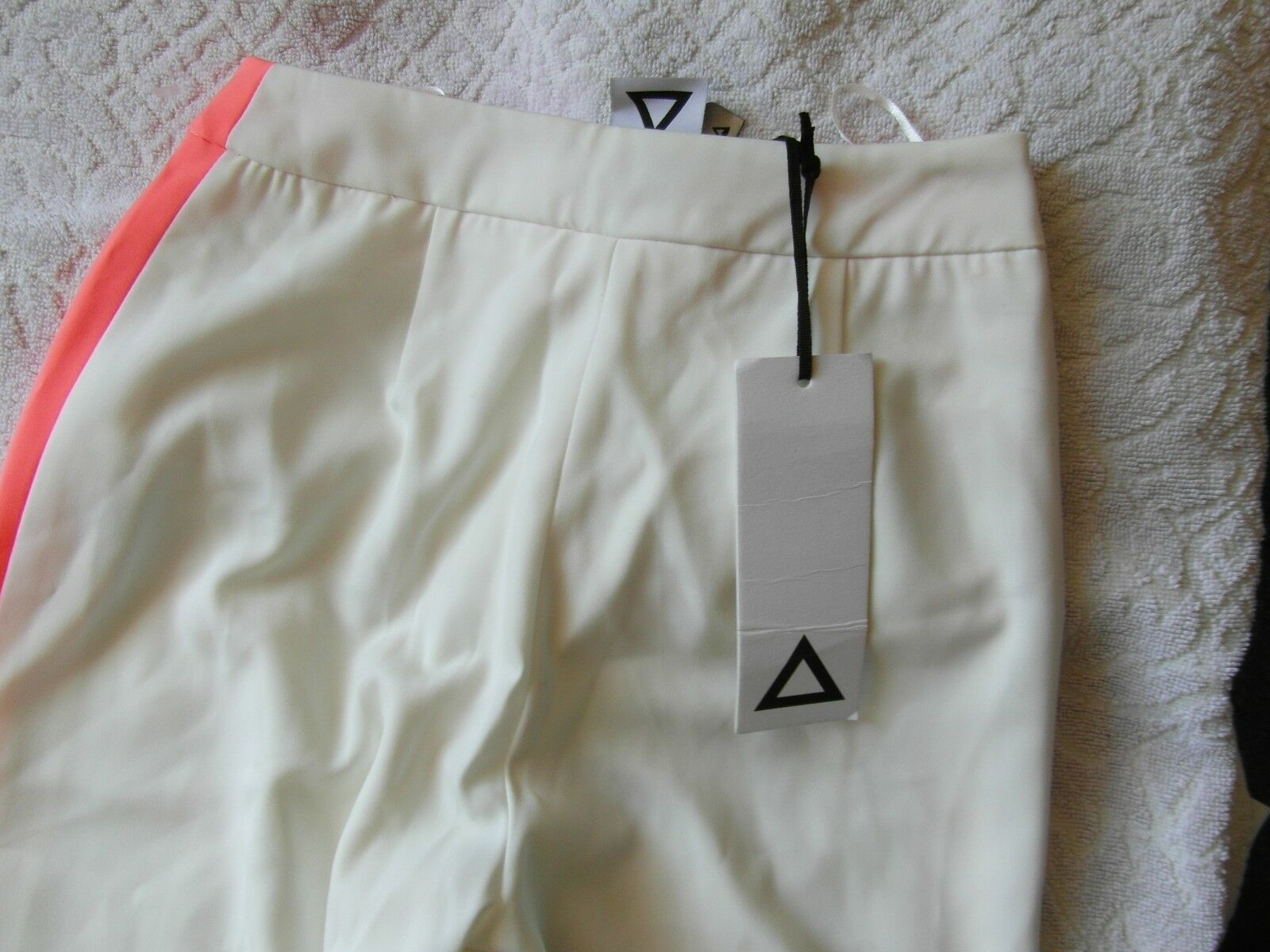 Aqua Aqua Aqua Cream & rosa Regular Fit High Rise MORNAY Pantaloni 24  vita BNWT RRP bccfce