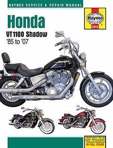 1985 2007 honda shadow vt 1100 spirit aero sabre haynes repair rh ebay com honda shadow spirit 2002 manual 2002 honda shadow spirit 750 manual