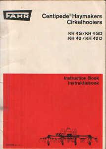 fahr tedder centipede kh4s kh4sd kh40 kh40d ops manual ebay rh ebay co uk Deutz- Allis Deutz-Fahr Logo