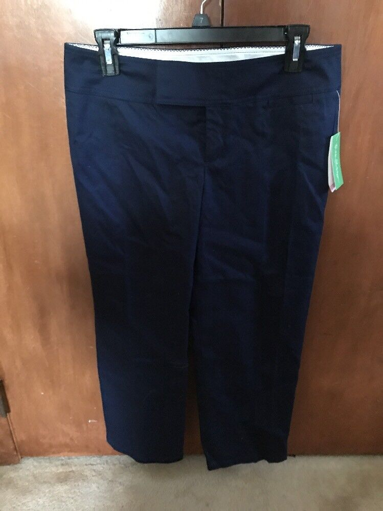 LILLY PULITZER Women's Palm Beach Fit Pants SIZE 6 Navy bluee