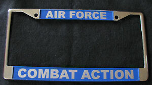 image is loading military license plate frame air force combat action - Military License Plate Frames