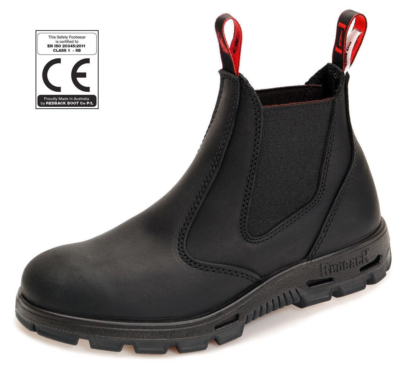 Redback Safety Boots - - - kompl. mit schwarzer Sohle BUSBBK black + Schmunzelfehler 09592b