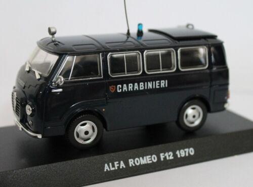 Alfa Romeo Romeo 2 F-12 Minibus Carabinieri 1971 Blue Edicola 1:43 CARAB020