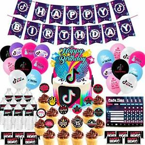 TikTok Party tableware set,Birthday Decorations for Kids YUIP TikTok Themed Party Supplies