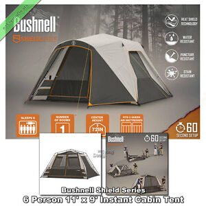 Instant-Tent-6-Person-Bushnell-11-039-x-9-039-Outdoor-Family-Cabin-Tents-for-Camping