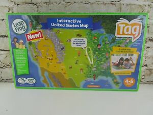 Leapfrog Tag - Interactive UNITED STATES MAP Learning System USA no ...