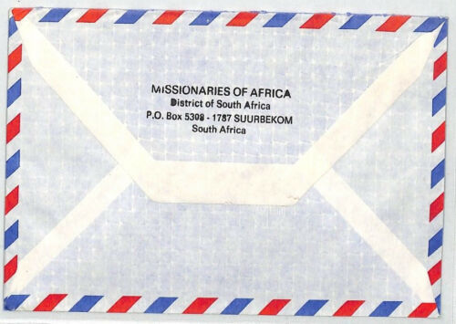 CA130 1989 South Africa MISSIONARIES OF AFRICA Suurbekom Cover VEHICLES MIVA