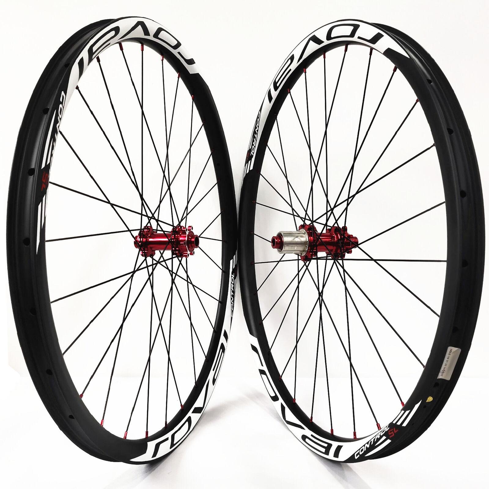 29er MTB carbon Fiber wheels Asymmetrical 33mm mountain bike wheelset M42 hub