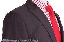 VERSACE COLLECTION Dark Grey With A Brown Pinstripe PEAK LAPEL Suit Uk38 BNWT