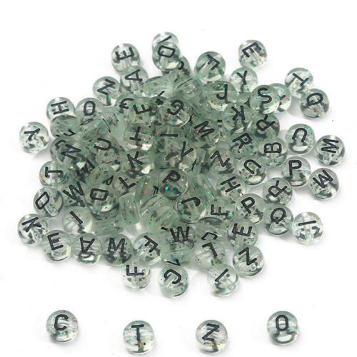 100pcs 4*7mm Acrylic Round Letter Beads For Hanmade Jewelry Making DIY Bracelet