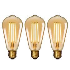 Lamparas Bombillas Edison de Filamento de LED E27 6W ST64 Vintage Retro...