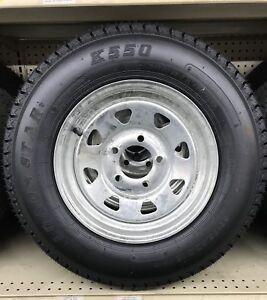 14 Boat Trailer Galvanized Rim Tire Combo 215 75d14 Ebay