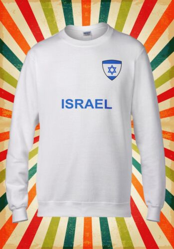 Israel National Flag Pocket Country Men Women Unisex Top Hoodie Sweatshirt 1644