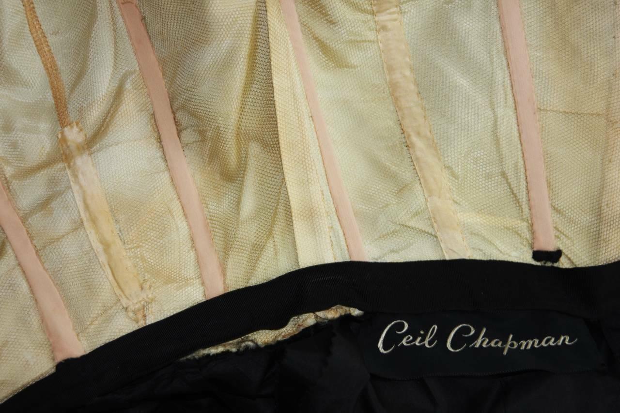 CEIL CHAPMAN  Black Cocktail Dress with Draped De… - image 10