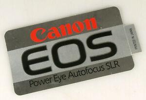 PRL) CANON EOS POWER EYE AUTOFOCUS SLR ADESIVO COLLEZIONE STICKER COLLECTION