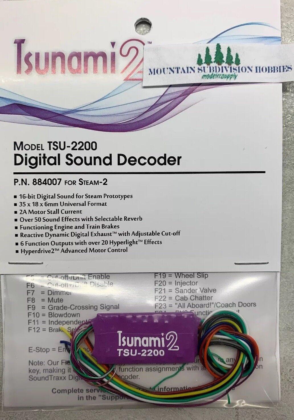 Soundtraxx Tsunami de vapor TSU-2200 884007 2 - 2 sonido decodificador modelrrsupply Loco